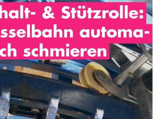 Mit Simatec Schalt- und Stützrolle der Sesselbahn automatisch schmieren