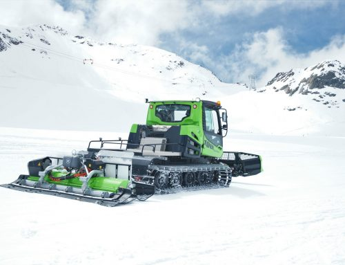 Elektrischer Pistenbully 100 E: Intensive Tests im Gletscherschnee