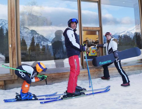 Erster Ski-Drive-in