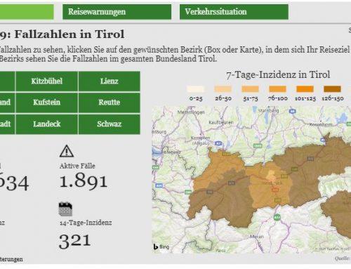 Zentrales Corona Dashboard für Tirol